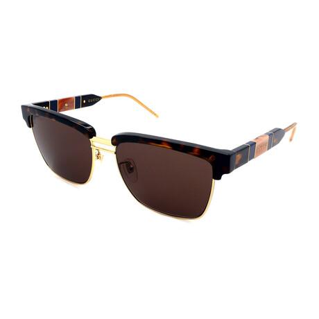 Unisex GG603S-003 Square Sunglasses // Havana