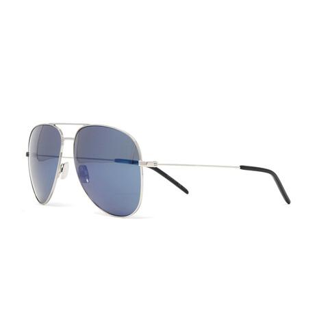 Yves Saint Laurent // Men's Classic 11 Sunglasses // Shiny Silver