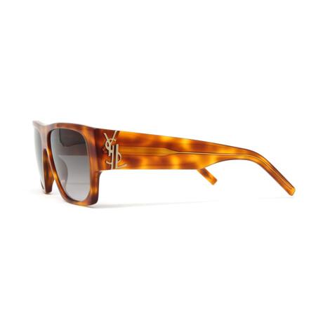 Yves Saint Laurent // Men's SLM17 Sunglasses // Shiny Light Havana