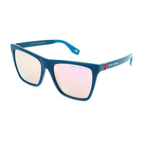 Women's 349-S ZI9 Sunglasses // Transparent + Teal