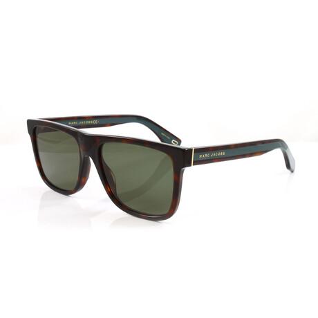Men's 275S Sunglasses // Dark Havana + Green