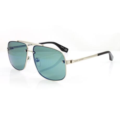 Men's 318S Sunglasses // Silver + Blue