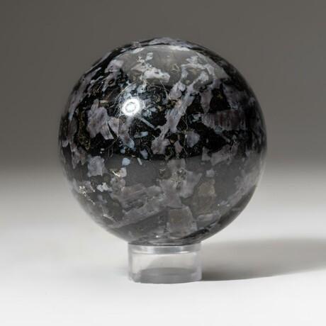 Genuine Polished Merlinite Sphere + Acrylic Display Stand // V1