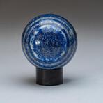 Genuine Polished Lapis Lazuli Sphere + Acrylic Display Stand // V2