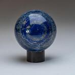 Genuine Polished Lapis Lazuli Sphere + Acrylic Display Stand // V3