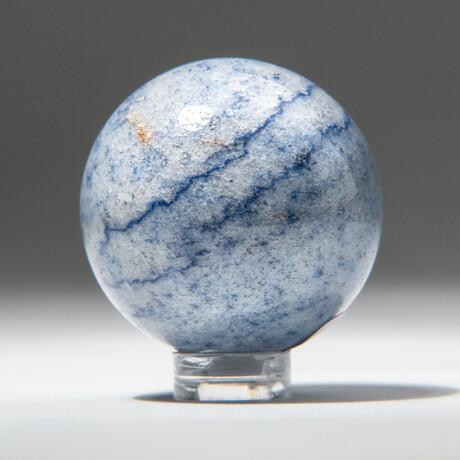 Genuine Polished Blue Quartz Sphere
