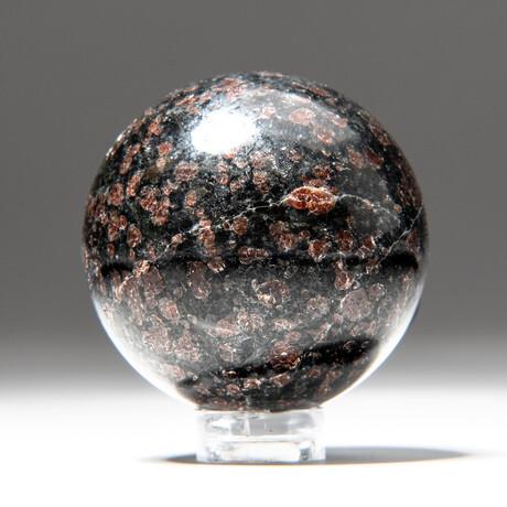 Genuine Polished Garnet Sphere