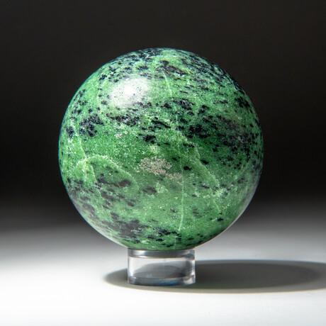Genuine Polished Ruby in Fushite Sphere