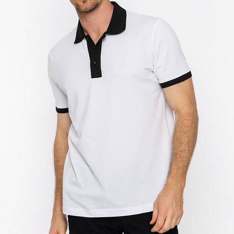 Franklin Short Sleeve Polo // White + Black (S)