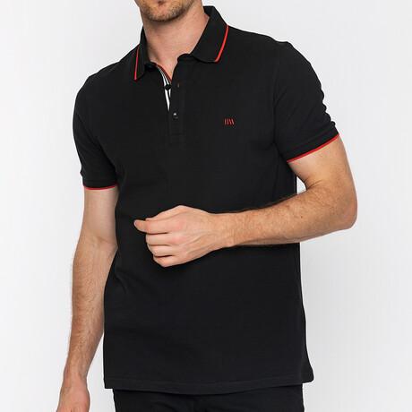 Francesco Short Sleeve Polo // Black (S)