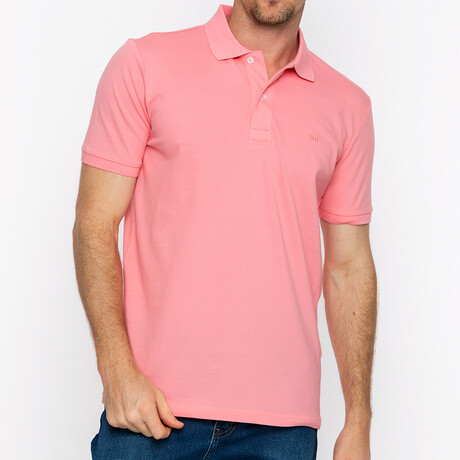 Diego Short Sleeve Polo // Pink (S)