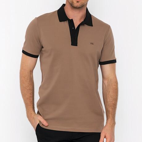 Gough Short Sleeve Polo // Brown + Black (S)