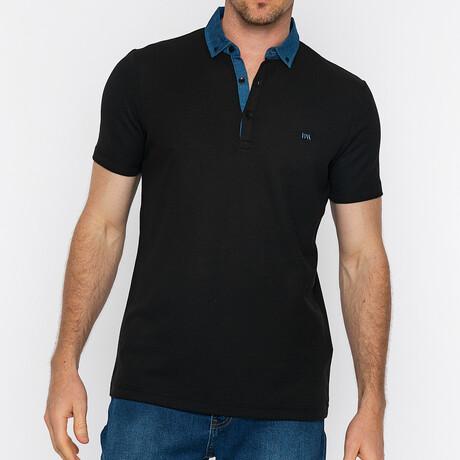 Lake Short Sleeve Polo // Black (S)