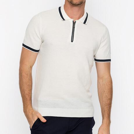 Dominic Short Sleeve Polo // Ecru (S)