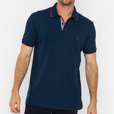 Travis Short Sleeve Polo // Navy (S)