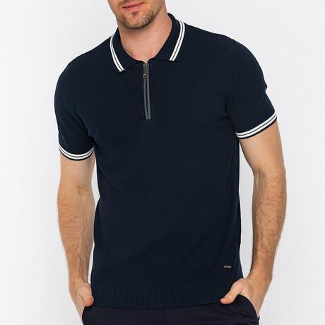 Matteo Short Sleeve Polo // Navy (S)