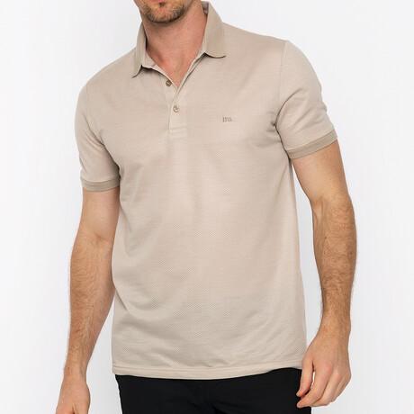 Miami Short Sleeve Polo // Beige (S)