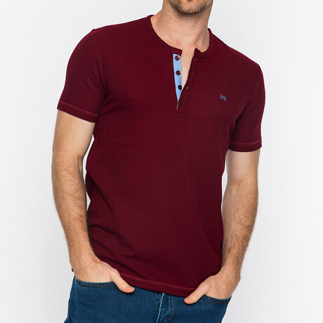 Nashville Short Sleeve Polo // Bordeaux (S)