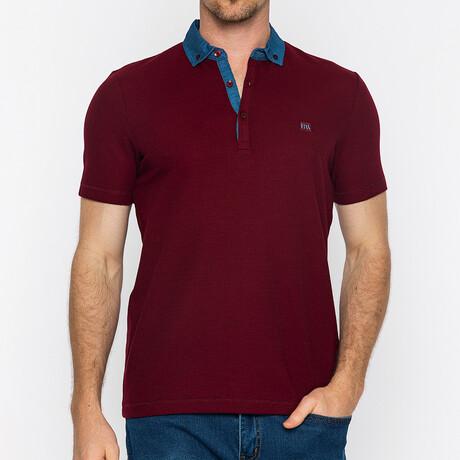 Denali Short Sleeve Polo // Bordeaux (S)