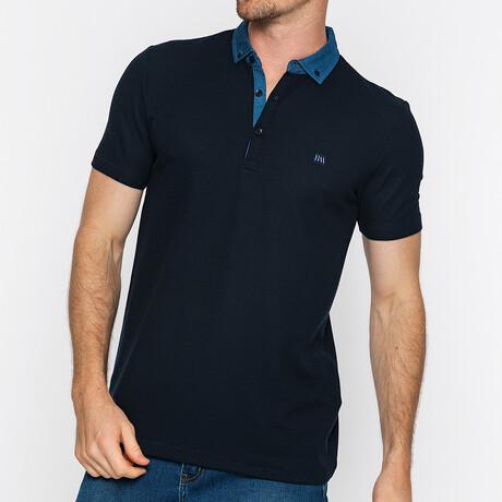 Steve Short Sleeve Polo // Navy (S)