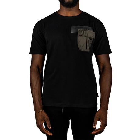 Short Sleeve Tee + Ripstop Pocket // Black (S)
