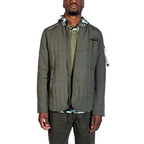 Long Sleeve Zipup Jacket // Dark Olive (S)