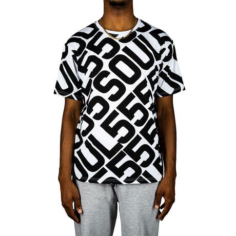 Allover Logo Tee Shirt // White (S)