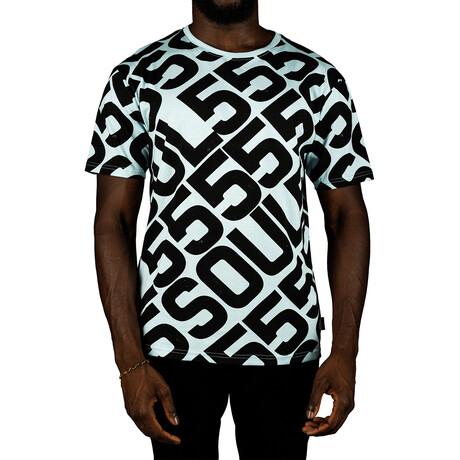Allover Logo Tee Shirt // Ice (S)