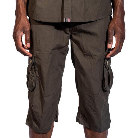 Tahoe Cargo Shorts // Dark Olive (30)
