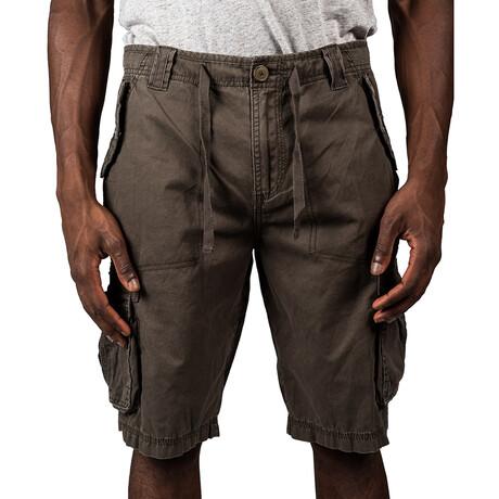 Phoenix Twill Cargo Shorts // Dark Olive (30)