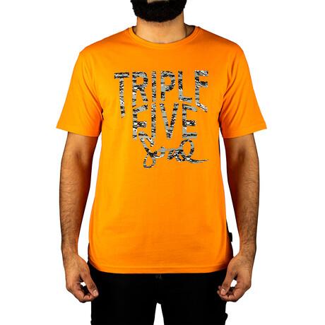 Triple Five Soul Logo Tee // Orange (S)