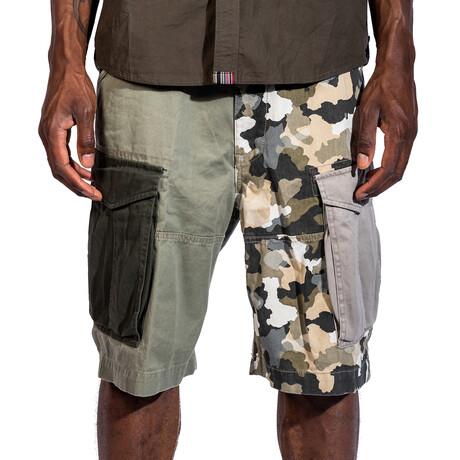 Marina Cargo Shorts // Olive Camo (30)