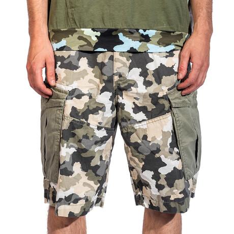 Francesco Cargo Shorts // Olive Camo (30)
