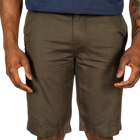 Mission Woven Shorts // Dark Olive (30)