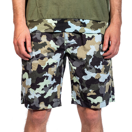 Yuma Woven Shorts // Black Camo (30)