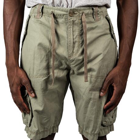 Tucson Twill Cargo Shorts // Light Olive (30)