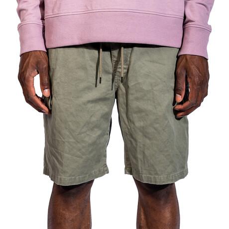 Tempe Woven Shorts // Light Olive (30)