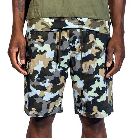 Chandler Woven Shorts // Black Camo (30)