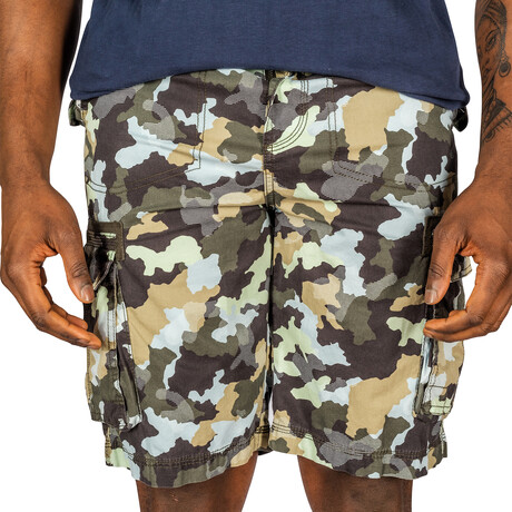 Sedona Cargo Shorts // Black Camo (30)