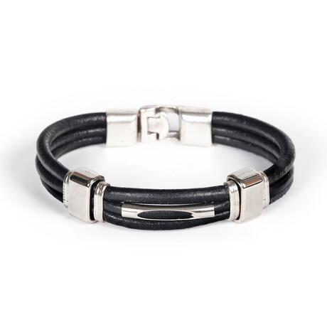 Bouchard Bracelet // Black + Silver