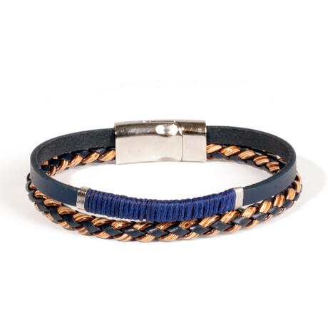 Moscon Bracelet // Blue + Brown