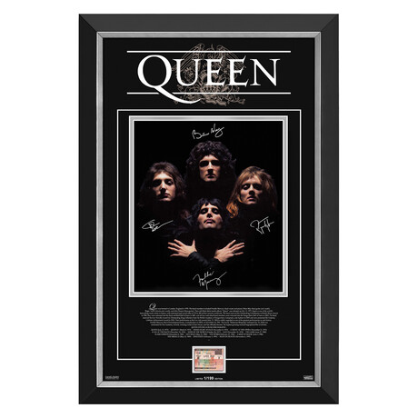 Queen // Limited Edition Collectible Display // Facsimile Signatures