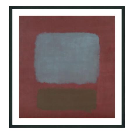 No. 37/No. 19 (Slate Blue and Brown on Plum), 1958