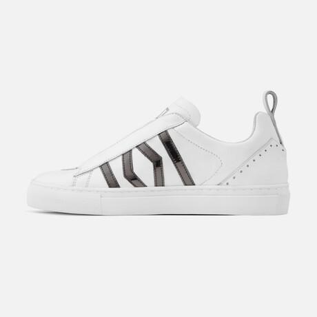Women's Stellar Sneaker // White + Anthracite (Men's Euro Size 37)