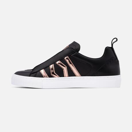 Women's Stellar Sneaker // Black + Copper (Men's Euro Size 37)