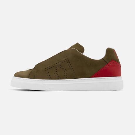 Men's Rocket Sneaker // Green + Red (Men's Euro Size 40)