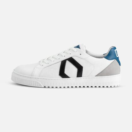 Men's Park Sneaker // White + Blue (Men's Euro Size 35)