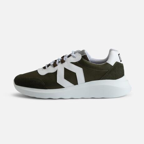 Men's Infinity Sport Sneaker // Green + White (Men's Euro Size 38)
