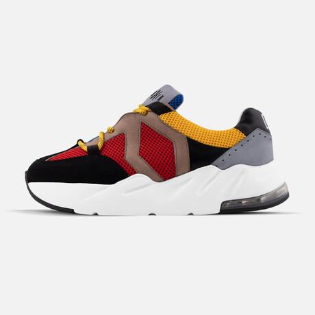 Men's Boom Sneaker // Red + Yellow + Blue (Men's Euro Size 43)