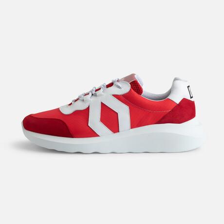 Men's Infinity Sport Sneaker // Red + White (Men's Euro Size 38)